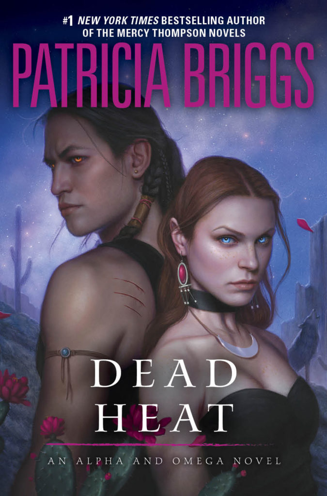 The cover to Dead Heat by Patricia Briggs.