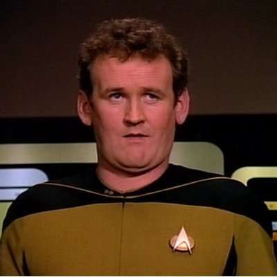 Miles O'Brien from Star Trek: The Next Generation.