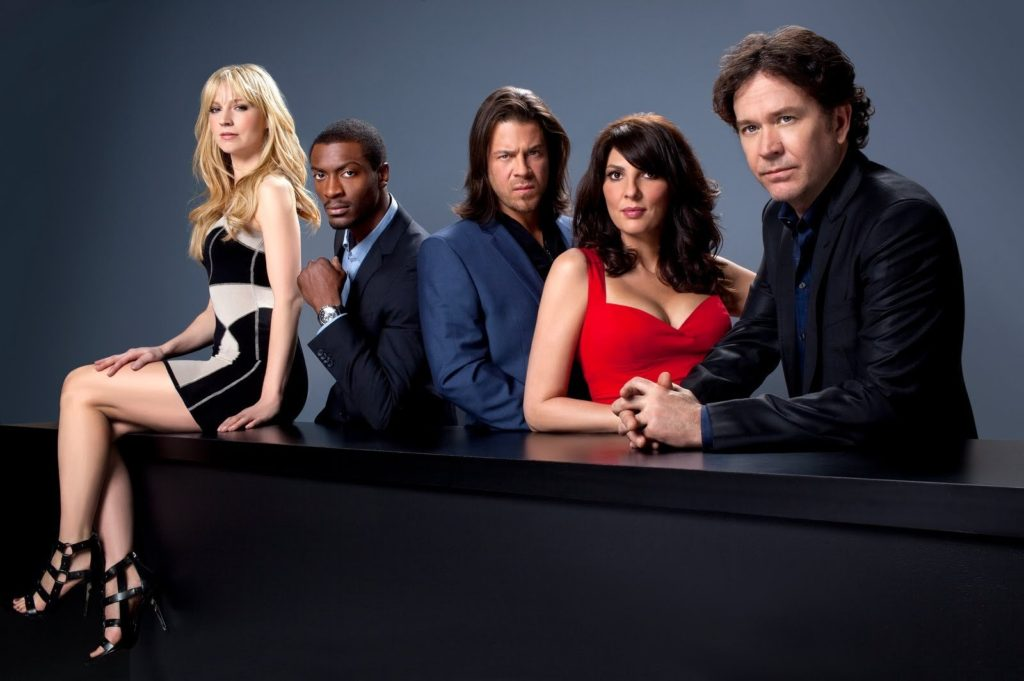 A photo of the team members from the show Leverage.